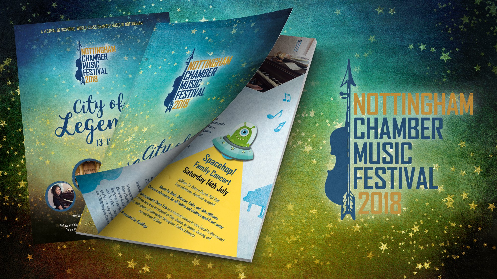 Pic of The Nottingham Chamber Music Festival Brochure design